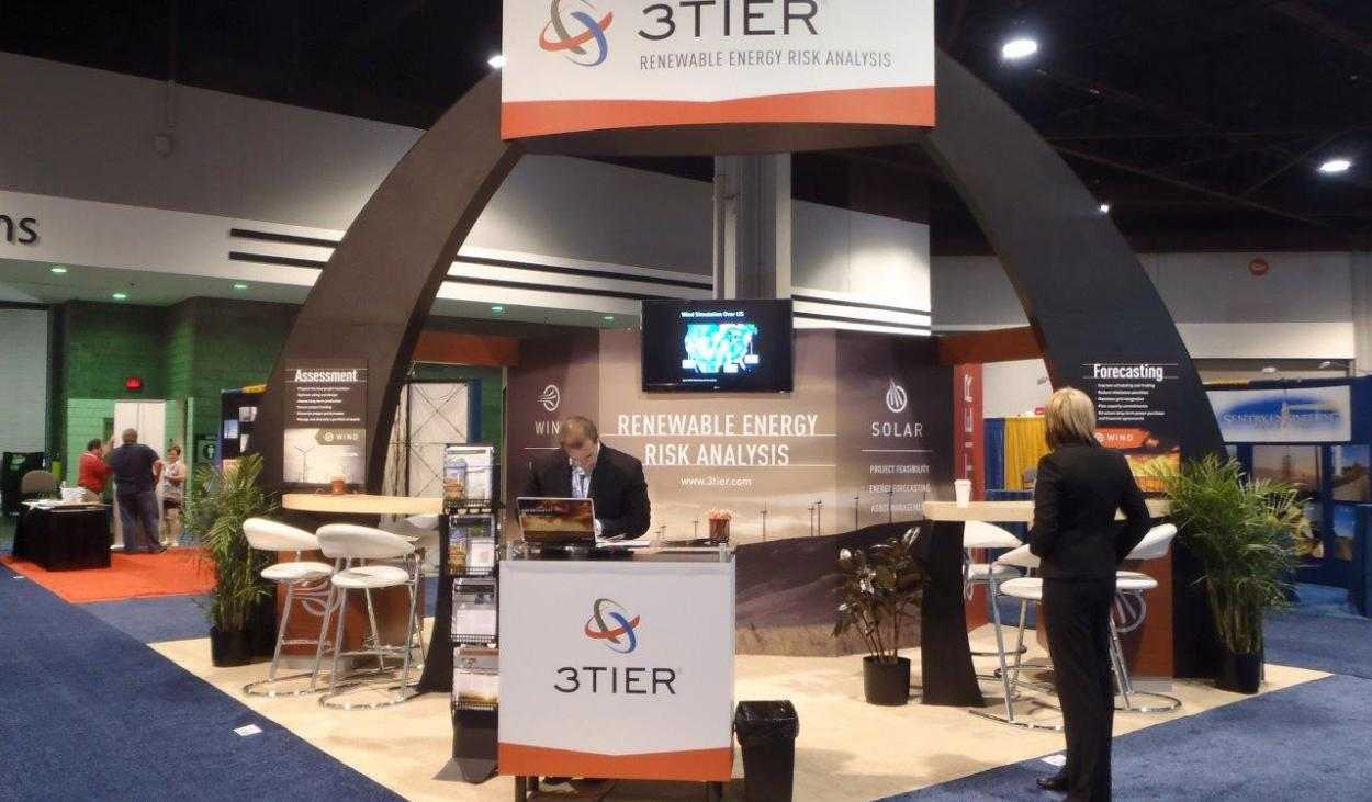 3Tier Trade Show Booth Design by Footprint Exhibits in Seattle