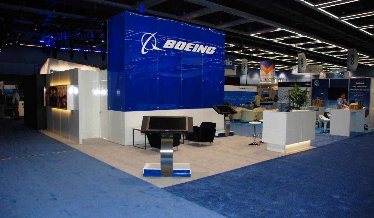 Boeing Trade Show Booth Design by Footprint Exhibits in Seattle