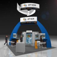 3Tier Trade Show Booth Design by Footprint Exhibits in Seattle, WA