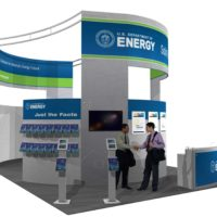 US Department of Energy Trade Show Booth Design by Footprint Exhibits in Seattle, WA