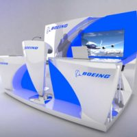 Boeing Trade Show Booth Design by Footprint Exhibits in Seattle, WA