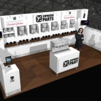 Espresso Parts Trade Show Booth Design by Footprint Exhibits in Seattle, WA