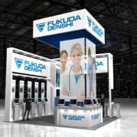 Fukuda Denshi Trade Show Booth Design by Footprint Exhibits in Seattle, WA