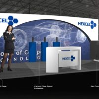 Hexcel Trade Show Booth Design by Footprint Exhibits in Seattle, WA