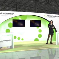 Natural Molecular Trade Show Booth Design by Footprint Exhibits in Seattle, WA