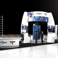 Power Climber Trade Show Booth Design by Footprint Exhibits in Seattle, WA