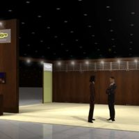 TechnoGym Trade Show Booth Design by Footprint Exhibits in Seattle, WA