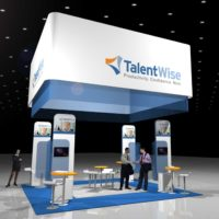 TalentWise Trade Show Booth Design by Footprint Exhibits in Seattle, WA