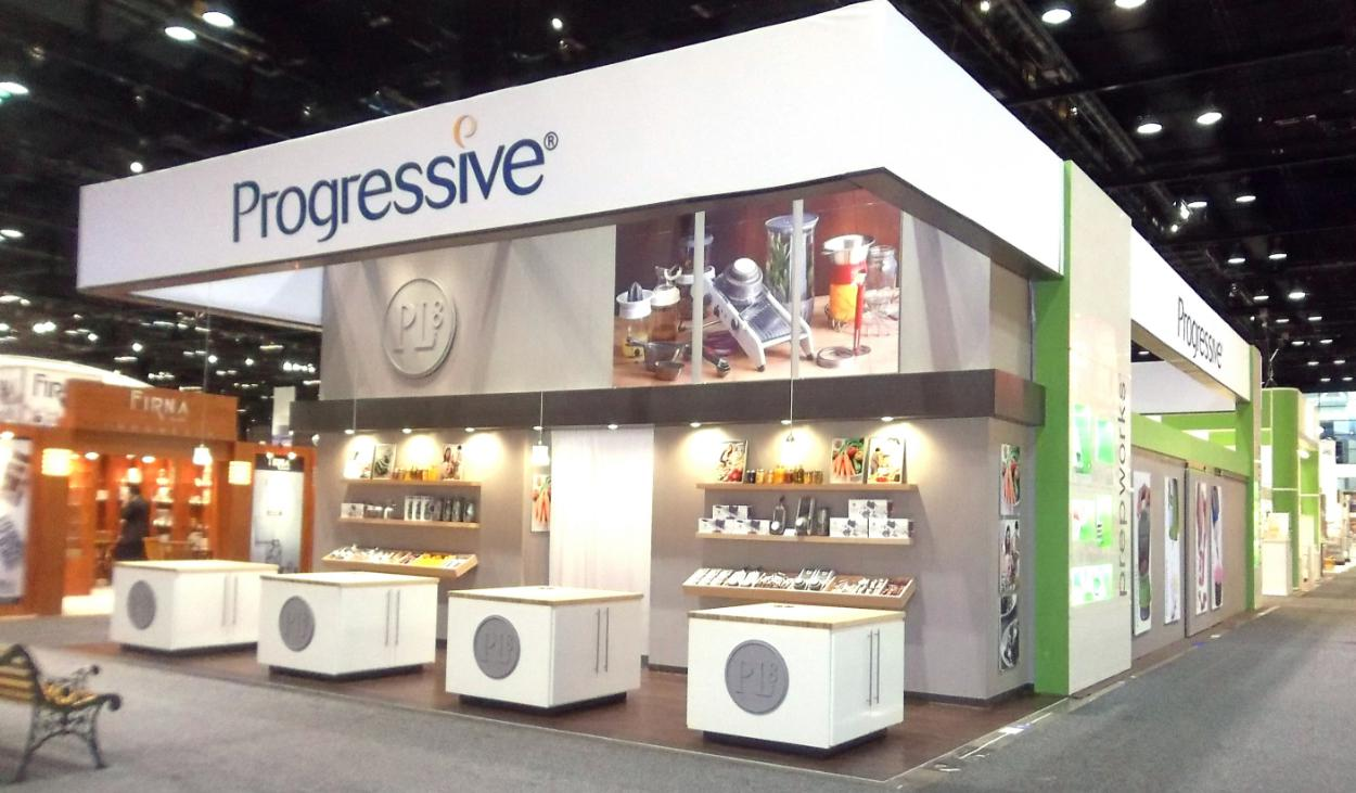 Progressive Trade Show Booth Design by Footprint Exhibits in Seattle