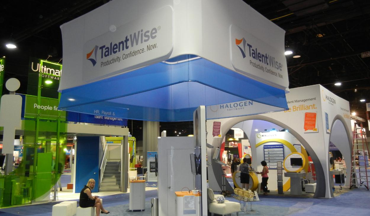 TalentWise Trade Show Booth Design by Footprint Exhibits in Seattle